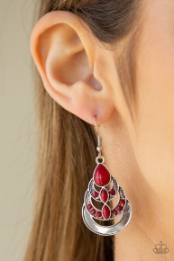 Boho Brilliance - Red Earrings