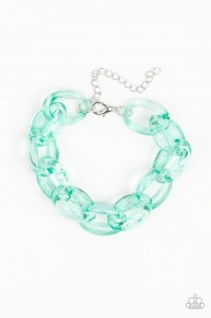 Ice Ice Baby - Green Acrylic Bracelet