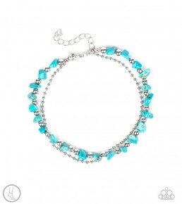 Beach Expedition - Blue Anklet