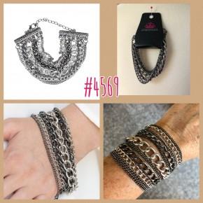 Metallic Horizon - Black Chain Bracelet