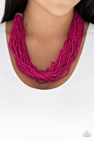 The Show Must Congo On - Pink Seed Bead Necklace
