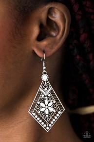 Stay Wild, Wildflower - White Earrings