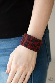 Cheetah Cabana - Red Urban Bracelet
