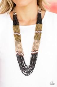 Rio Roamer - Black Seed Bead Necklace