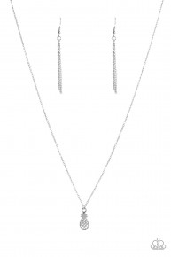A Pineapple A Day - Silver Necklace