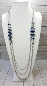 Charmingly Colorful - Blue Necklace