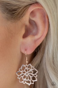 Darling Dahlia - Rose Gold Earrings