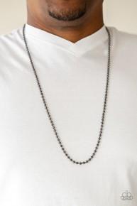 Cadet Casual - Black Urban Necklace