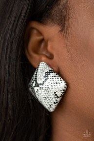 Making HISS-tory - White Post Earrings
