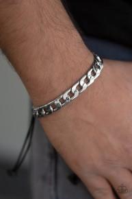 Score! - Silver Mens Urban Bracelet