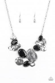 Grotto Grandeur - Black Vintage Necklace
