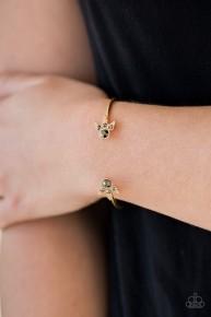 A Bit Rich - Multi/Gold Cuff Bracelet