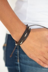 Adventures In Wander-land - Brown Urban Bracelet