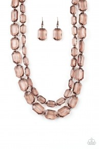 Ice Bank - Copper Acrylic Necklace