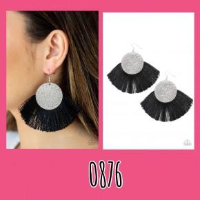 Foxtrot Fringe - Black Earrings