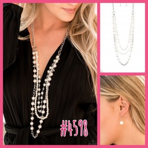 New York City Chic - White Necklace