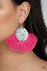 Foxtrot Fringe - Pink Fringe Earrings