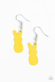 Starlet Shimmer Earrings - Yellow Easter Bunny