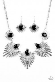 Miss Youniverse - Black Blockbuster Necklace