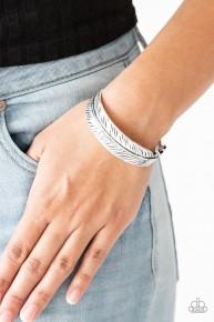 Tran-QUILL-ity- Silver Cuff Bracelet