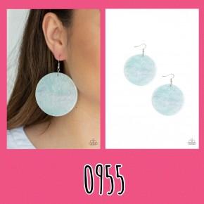 Sea Where It Goes - Blue Earrings