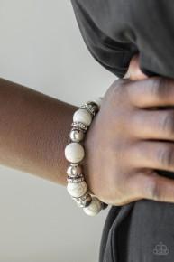 Ruling Class Radiance - White Bracelet