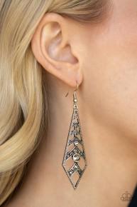 Flared Flair - Silver Earrings