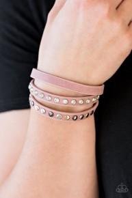 Catwalk Casual - Pink Urban Wrap Bracelet