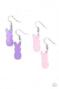 Starlet Shimmer Earrings - Purple Easter Bunny