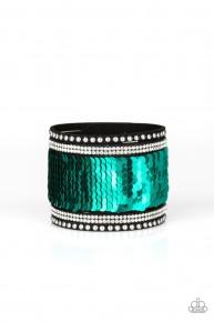 Mermaids Have More Fun - Green Urban Sequin Bracelet