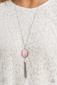 Tasseled Tranquility - Pink Necklace