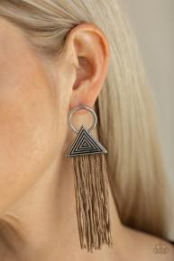Oh My GIZA - Brown Fringe Earrings