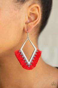 When In Peru - Red Earrings