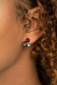 Everything Must Glow - Red Post Earrings