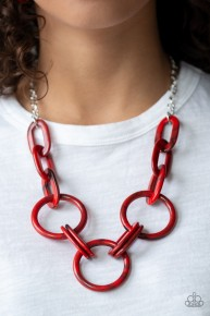 Turn Up The Heat - Red Necklace