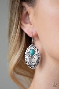Mountain Montage - Blue Earrings