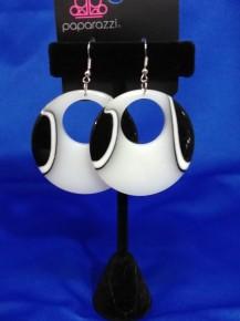 Haute Topic - White Acrylic Earrings