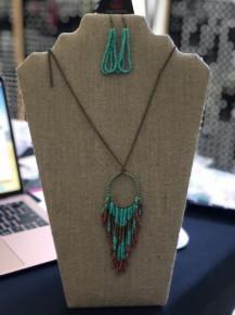 Badlands Necklace - Blue Seed Bead Necklace