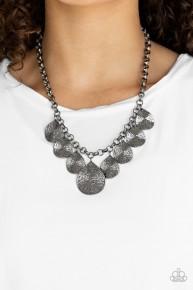 Texture Storm - Black Necklace
