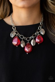 Looking Glass Glamorous - Red Necklace