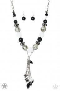 Break A Leg - Black Blockbuster Necklace