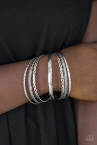 Rattle And Roll - Silver Bangle Bracelet