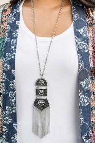 Tassel Tycoon - Silver Necklace