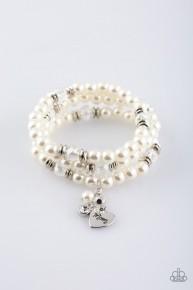 Mom Wow - White Bracelet