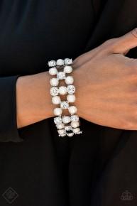 Diamonds And Debutantes - White Bracelet