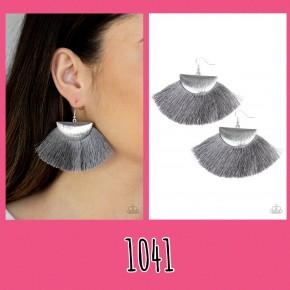 Fox Trap - Silver Fringe Earrings