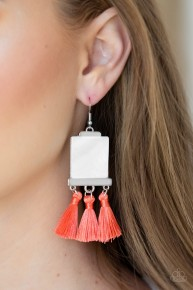 Tassel Retreat - Orange Earrings