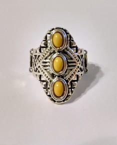 Mayan Motif - Yellow Ring