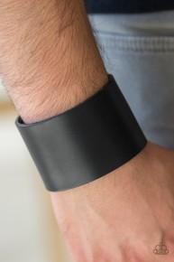 Alley Rally - Black Leather Urban Bracelet