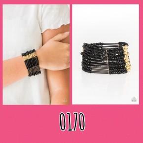 Rural Retreat - Gold/Black Seed Bead Bracelet